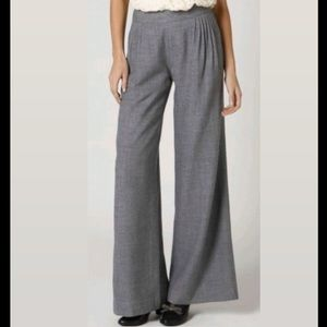 Elevenses Pleated Gray Wide Leg Trousers